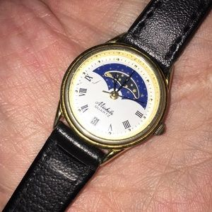 Michele vintage moon watch /new band